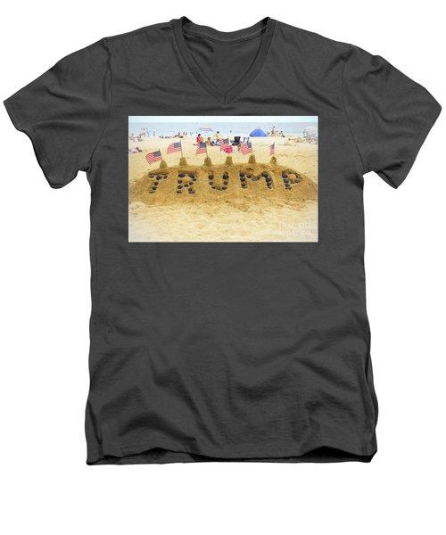 Trump - Sandcastle Men's V-Neck T-Shirt
