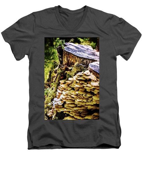 Trunk And Mushrooms Men's V-Neck T-Shirt