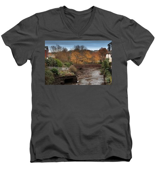 Men's V-Neck T-Shirt featuring the photograph Truro River by Brian Roscorla