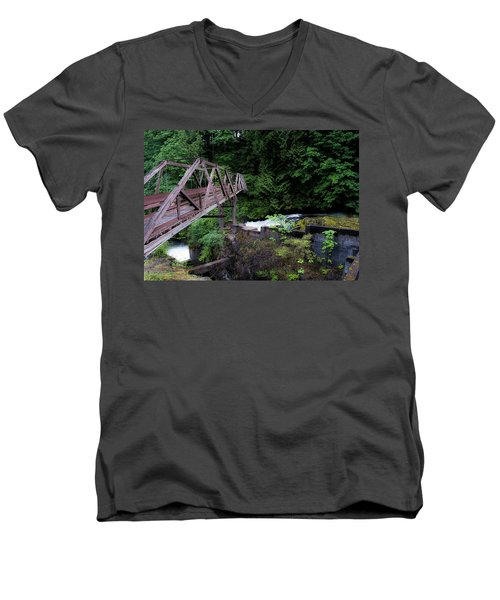 Trussting Men's V-Neck T-Shirt by Rhys Arithson