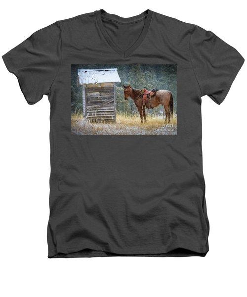 Trusty Horse  Men's V-Neck T-Shirt