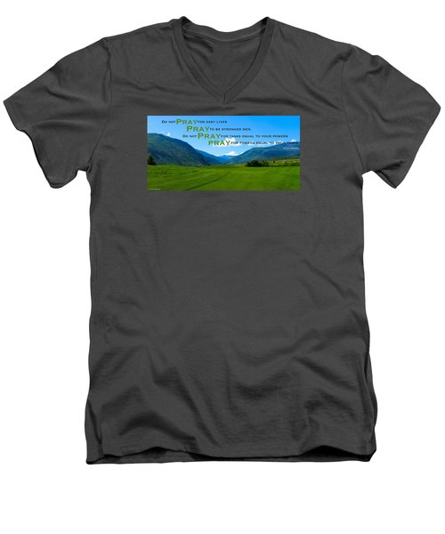 Truth In Fellowship Men's V-Neck T-Shirt by David Norman