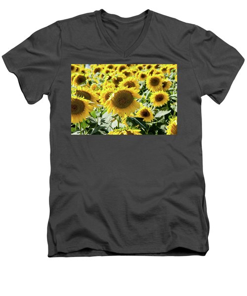Men's V-Neck T-Shirt featuring the photograph Trying To Feel Unique by Greg Fortier