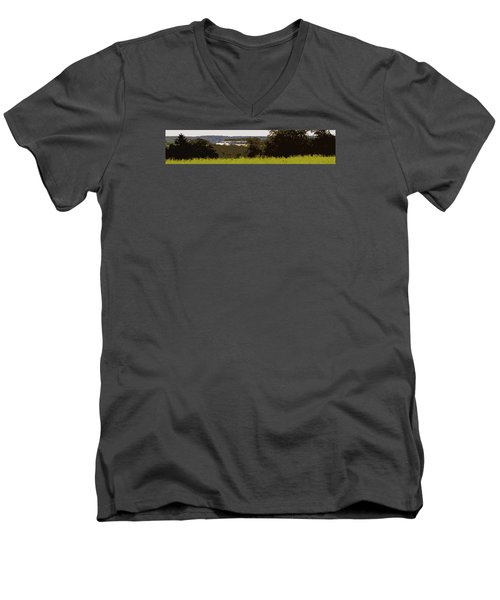 Men's V-Neck T-Shirt featuring the photograph Tucked Away by Spyder Webb