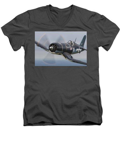 Tucked In Tight Men's V-Neck T-Shirt