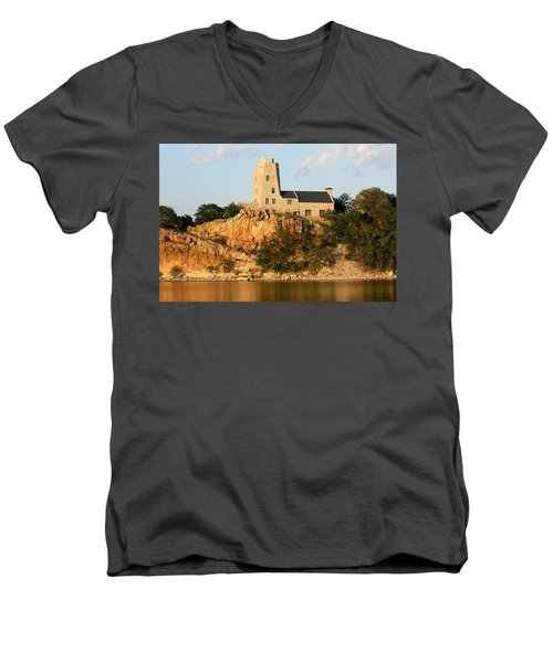 Tucker's Tower Lake Murray Oklahoma Men's V-Neck T-Shirt