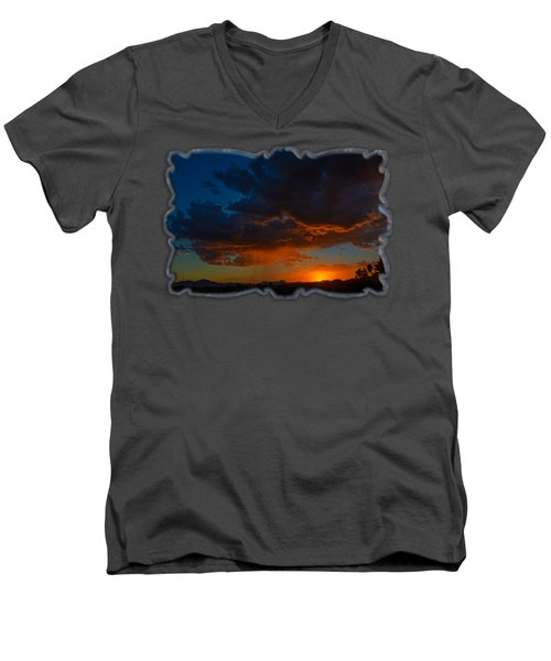 Tucson Sunset H59 Men's V-Neck T-Shirt