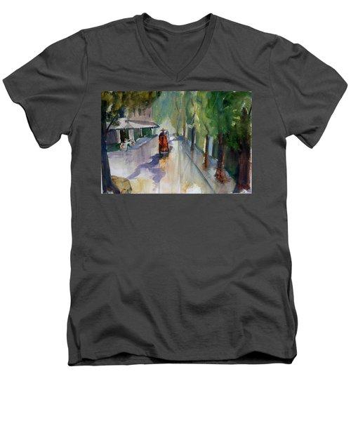 Tudo Street, Saigon 9 Men's V-Neck T-Shirt by Tom Simmons