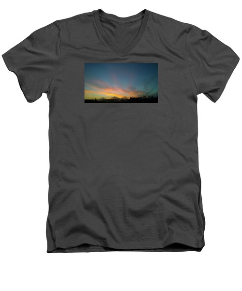 Men's V-Neck T-Shirt featuring the photograph Tuesday Sunrise by Anne Kotan