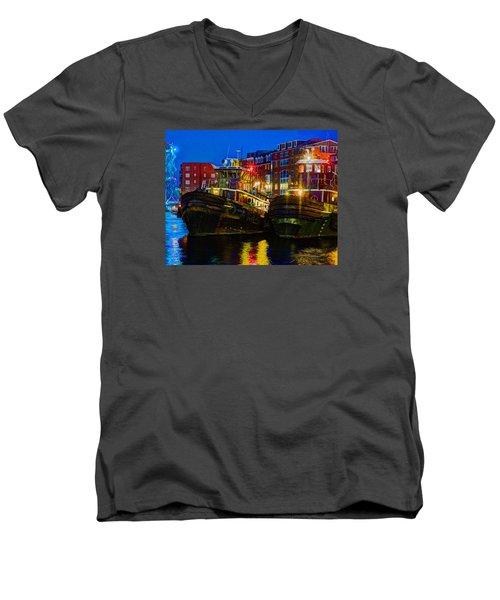 Tug Boat Alley 026 Men's V-Neck T-Shirt