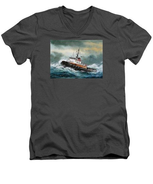 Tugboat Hunter Crowley Men's V-Neck T-Shirt