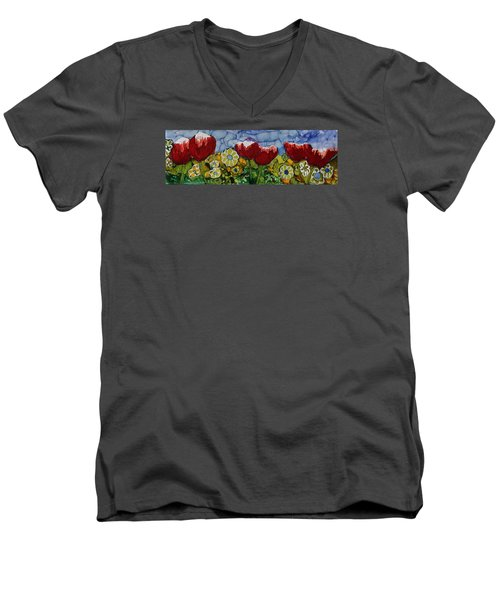Tulip Bonanza Men's V-Neck T-Shirt