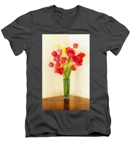 Tulip Bouquet Men's V-Neck T-Shirt