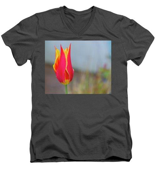 Tulip Fire Men's V-Neck T-Shirt