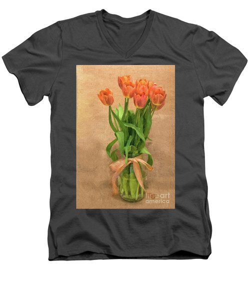 Tulip Impasto Men's V-Neck T-Shirt
