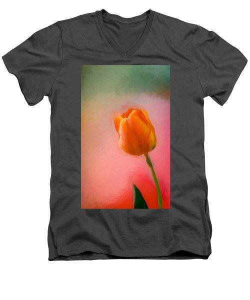Tulip On The Porch Men's V-Neck T-Shirt
