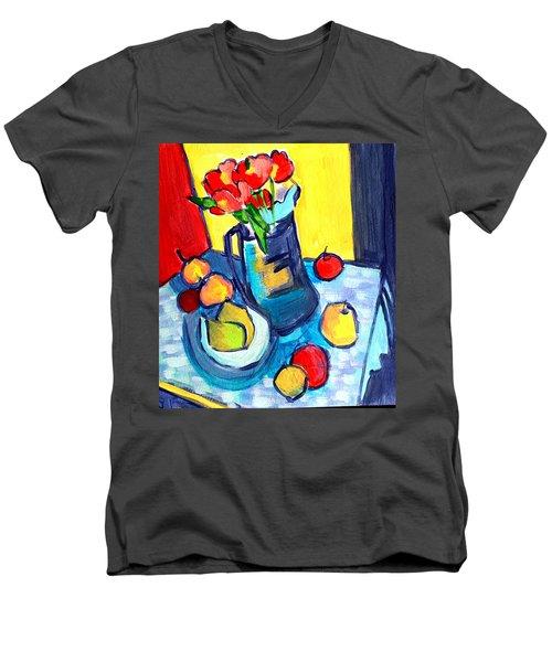 Tulip Still Life Men's V-Neck T-Shirt