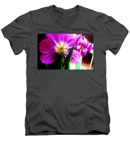 Tulip Time Men's V-Neck T-Shirt by Tim Townsend