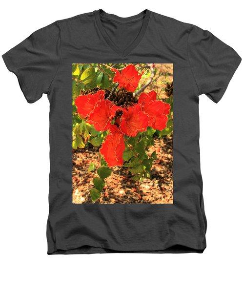 Tulip Tree Flowers Men's V-Neck T-Shirt