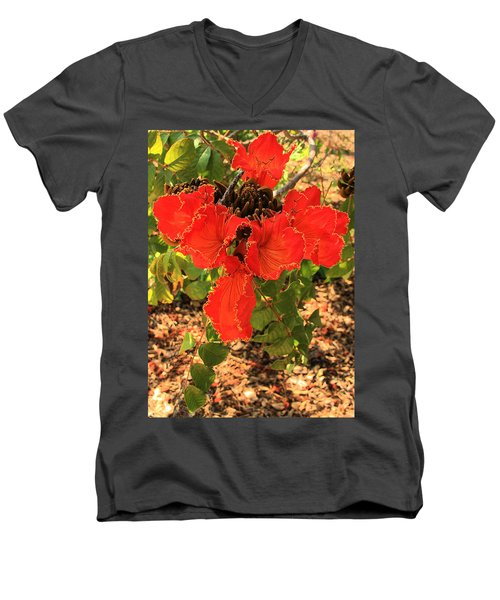 Tulip Tree Flowers Men's V-Neck T-Shirt
