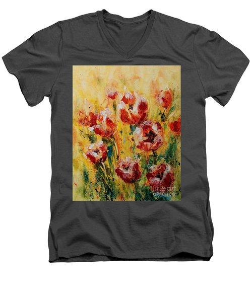 Tulip Waltz Men's V-Neck T-Shirt