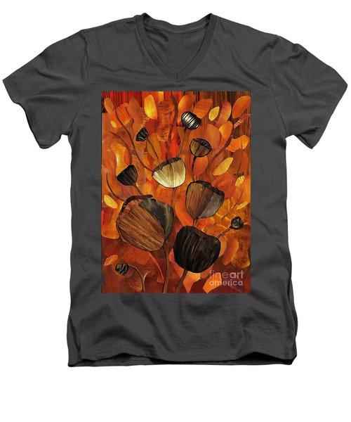 Tulips And Violins Men's V-Neck T-Shirt by Sarah Loft