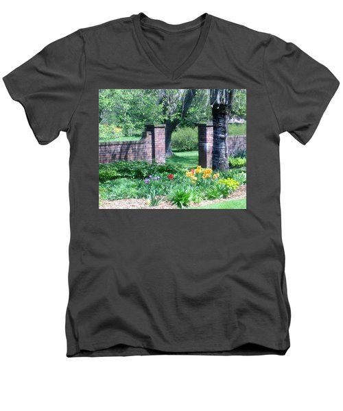 Tulips At Glen Magna Farms Men's V-Neck T-Shirt by Paul Meinerth