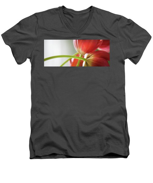 Tulips In The Morning Men's V-Neck T-Shirt by Theresa Tahara