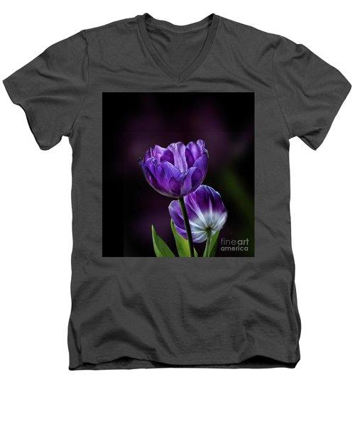 Tulips Men's V-Neck T-Shirt by Shirley Mangini