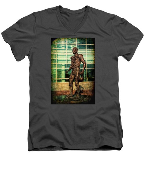 Men's V-Neck T-Shirt featuring the photograph Tundra Titan by Trey Foerster