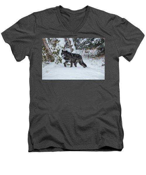 Tundra Wolf 6701 Men's V-Neck T-Shirt