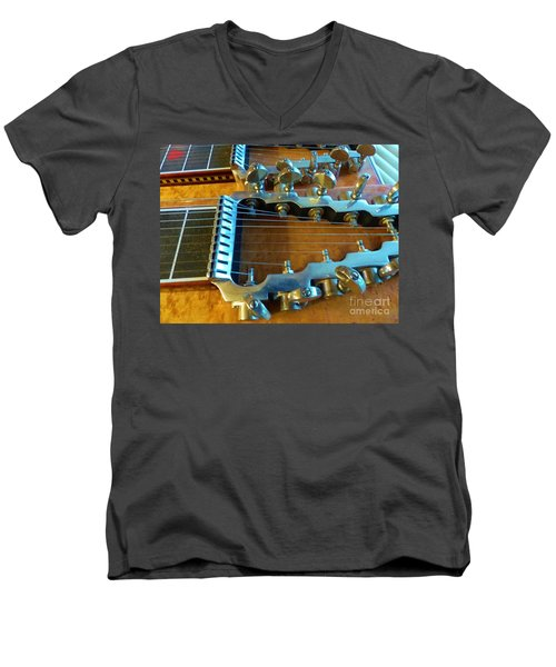 Tuning Pegs On Sho-bud Pedal Steel Guitar Men's V-Neck T-Shirt