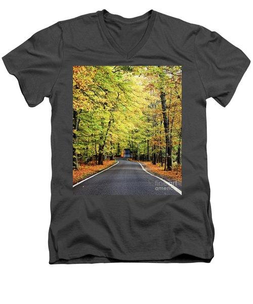 Tunnel Of Trees Men's V-Neck T-Shirt