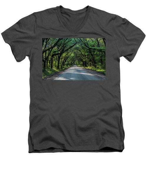 Men's V-Neck T-Shirt featuring the photograph Tunnel On Botany Bay by Jon Glaser