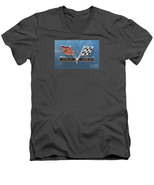 Men's V-Neck T-Shirt featuring the photograph Turbo-jet by Rebecca Davis