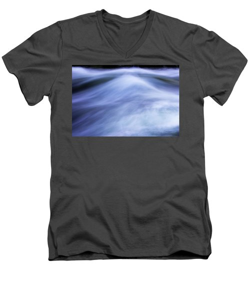 Men's V-Neck T-Shirt featuring the photograph Turbulence 3 by Mike Eingle