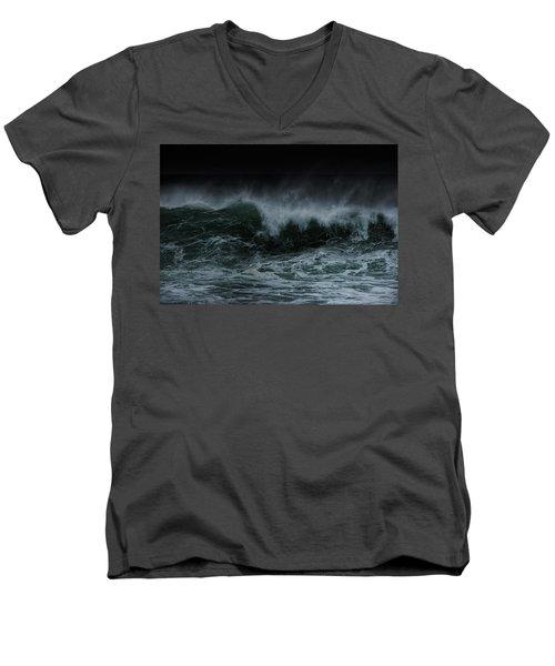 Turbulence Men's V-Neck T-Shirt by Edgar Laureano