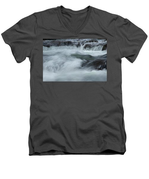 Men's V-Neck T-Shirt featuring the photograph Turbulence  by Mike Eingle