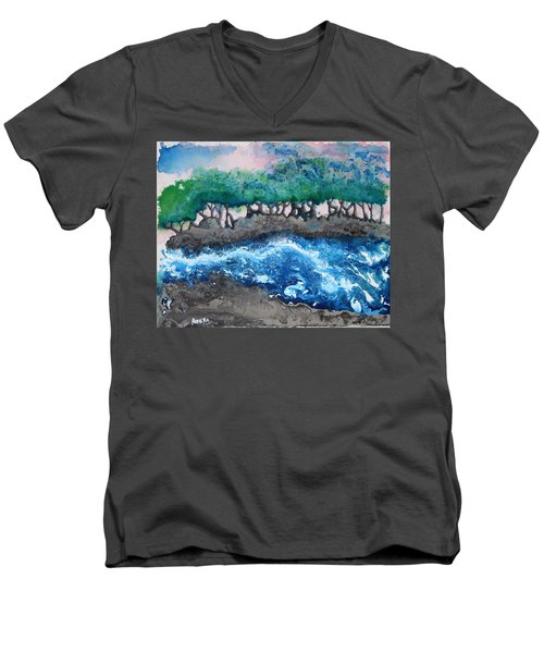 Turbulent Waters Men's V-Neck T-Shirt by Antonio Romero