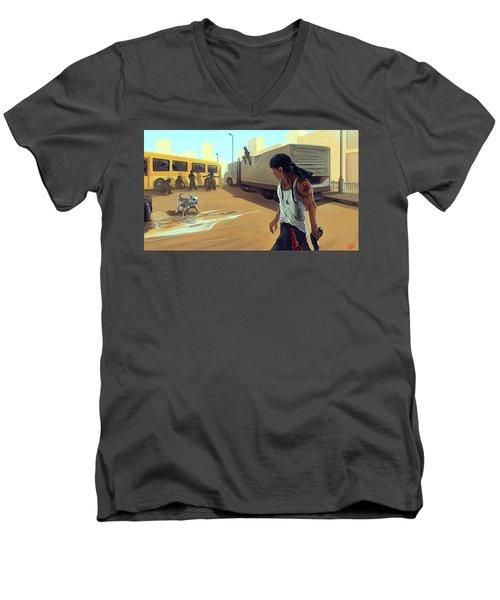 Turf War Men's V-Neck T-Shirt