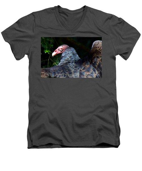 Turkey Vulture Men's V-Neck T-Shirt by Sean Griffin