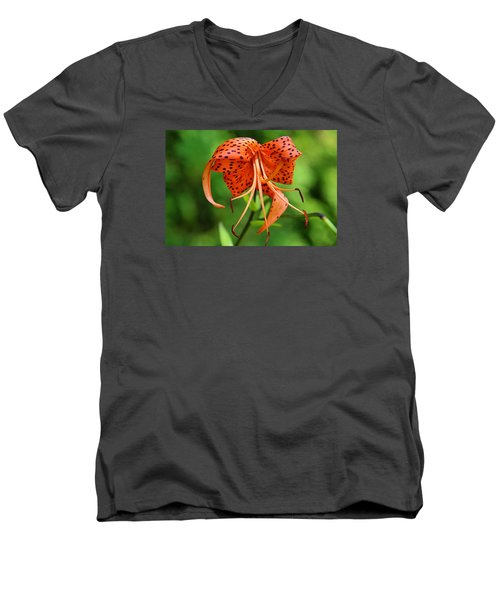 Men's V-Neck T-Shirt featuring the photograph Turn Up The Heat by Michiale Schneider