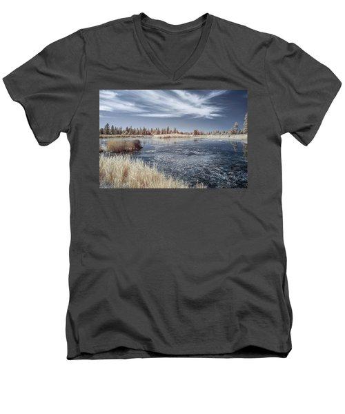 Turnbull Waters Men's V-Neck T-Shirt by Jon Glaser