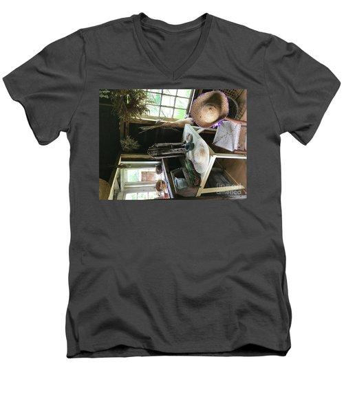 Turned Around Men's V-Neck T-Shirt