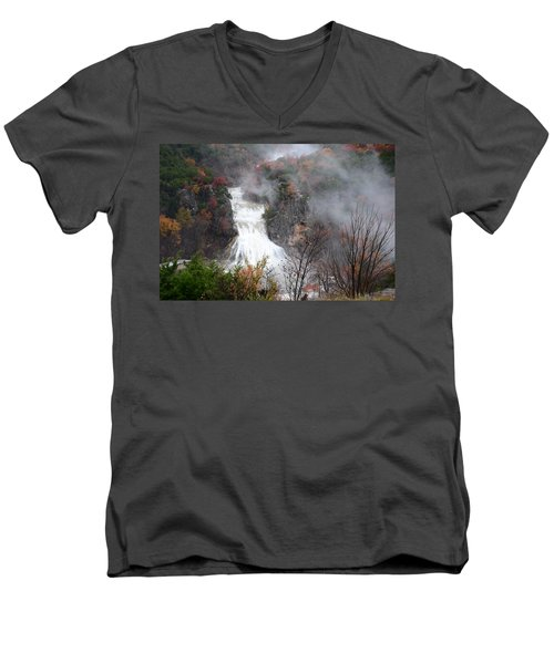 Turner Falls And Steam Men's V-Neck T-Shirt