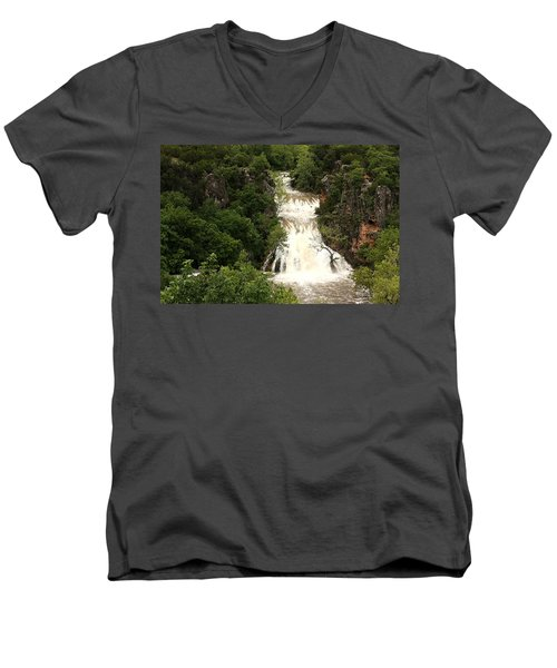 Turner Falls Waterfall Men's V-Neck T-Shirt