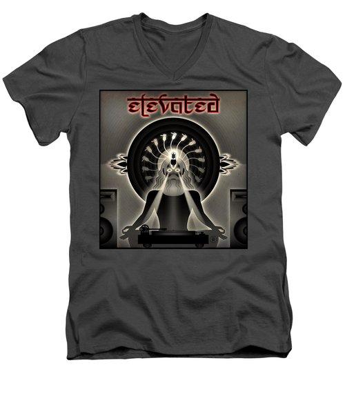 Turntable Guru Men's V-Neck T-Shirt by Milton Thompson