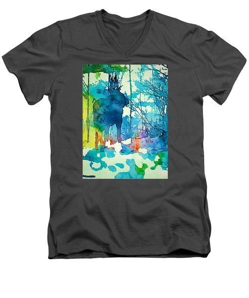 Turquoise Moose Men's V-Neck T-Shirt