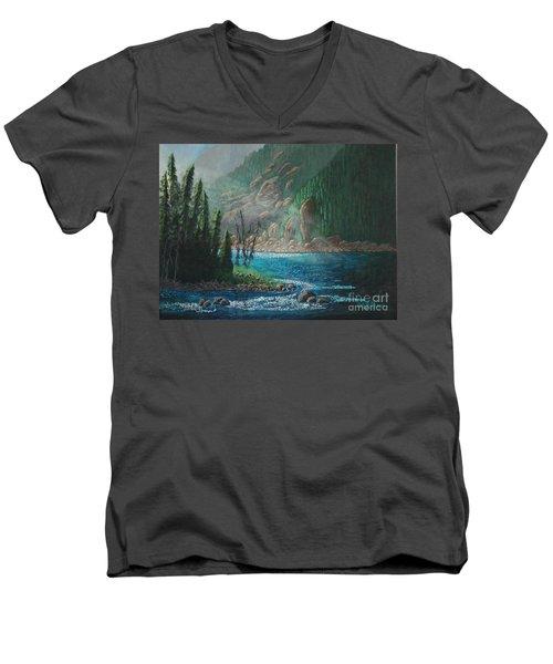 Turquoise River Men's V-Neck T-Shirt