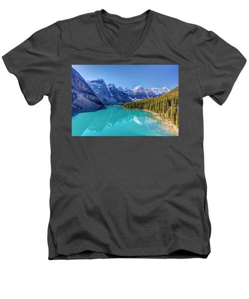 Turquoise Splendor Moraine Lake Men's V-Neck T-Shirt